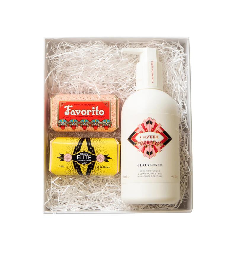 ONLINE限定GIFT SET【RED】- 2 MINI SOAPS & LIQUID SOAP